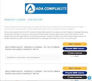 ADACompliasite Logo Design and Shopping Cart Thumbnail