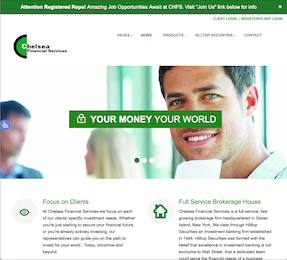 Chelsea Financial Services Home Page Thumbnail