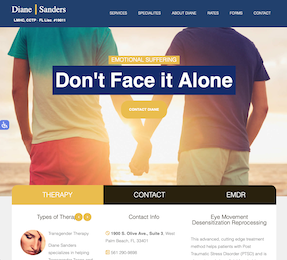 DianeSandersTherapy.com Home Page Thumbnail - Don't Face It Alone