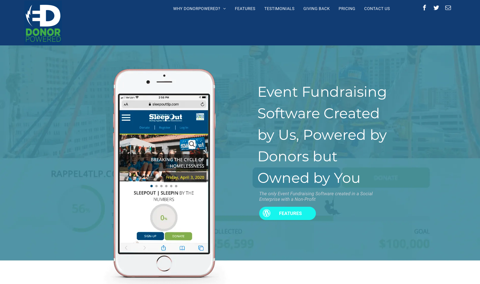 DonorPowered-Home-Page